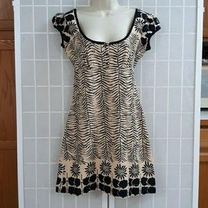 FREE PEOPLE Boho Printed Low Cut Tie Back Dress 4